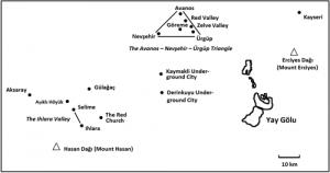 Map of Cappadocia