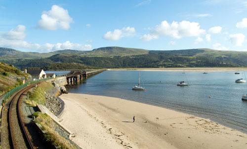 Beautiful uk coastal view