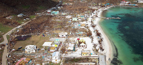Tortola cyclone damage
