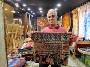 Murat Aksoy, carpet vendor