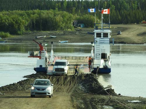 Peel River Ferry, Canada's northwest territory