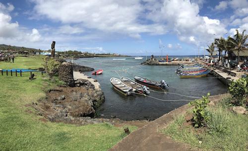 Easter Island bay