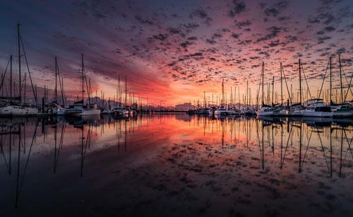 Marina at nightfall
