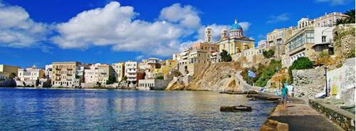 Greek waterfront