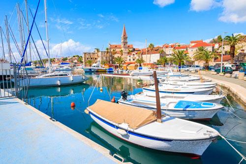 Milna Port, Brac Island, Croatia
