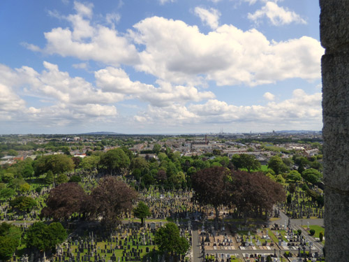 View from O'Connel Tower, Gasnevin, Dublin
