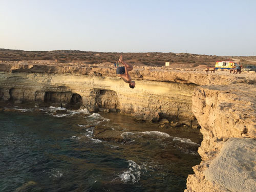 Meaningless cliff dive