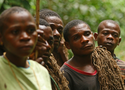 Locals in the Central African Republic